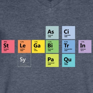 LGBTQI Chemistry - Men's V-Neck T-Shirt by Canvas
