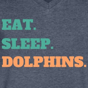 Eat. Sleep. Dolphins. - Men's V-Neck T-Shirt by Canvas
