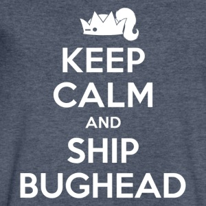 Riverdale - Keep Calm And Ship Bughead - Men's V-Neck T-Shirt by Canvas
