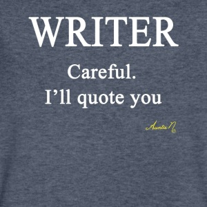 0058w Writer: Careful I'll Quote You - Men's V-Neck T-Shirt by Canvas