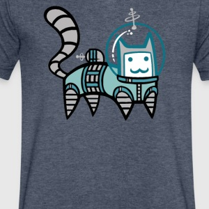 astro cat - Men's V-Neck T-Shirt by Canvas