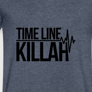 Timeline Killah - Men's V-Neck T-Shirt by Canvas
