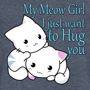 My Meow Girl, I Just Want to Hug You T-shirt - Men's V-Neck T-Shirt by Canvas