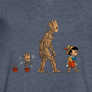 groot evolution - Men's V-Neck T-Shirt by Canvas