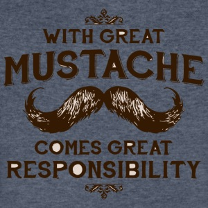 With Great Mustache Comes Great Responsibility - Men's V-Neck T-Shirt by Canvas