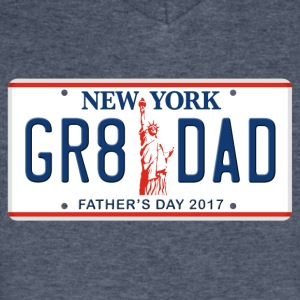 Great Dad - Happy Father's Day - New York - Men's V-Neck T-Shirt by Canvas