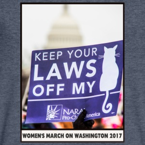 Women's March on Washington 2017-Keep your laws - Men's V-Neck T-Shirt by Canvas