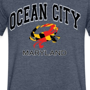 Ocean City Maryland Crab - Men's V-Neck T-Shirt by Canvas