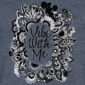 vibe with me - Men's V-Neck T-Shirt by Canvas