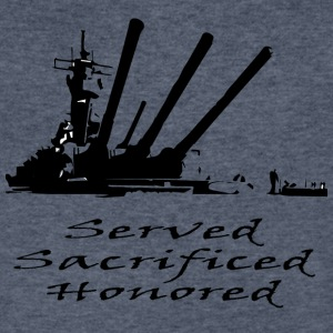 Navy Served Sacrificed Honored - Men's V-Neck T-Shirt by Canvas
