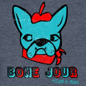 Bone Jour Freedom HS French - Men's V-Neck T-Shirt by Canvas