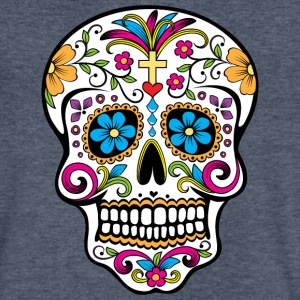 Colorful Sugar skull Special Limited Edition - Men's V-Neck T-Shirt by Canvas