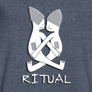 Ritual (#1, White w/Shadow) - Men's V-Neck T-Shirt by Canvas
