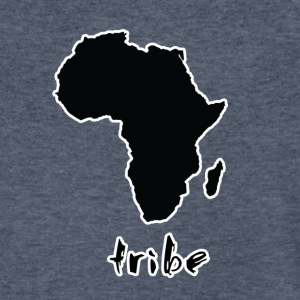 Tribe (Africa, Black w/ White Outline) - Men's V-Neck T-Shirt by Canvas