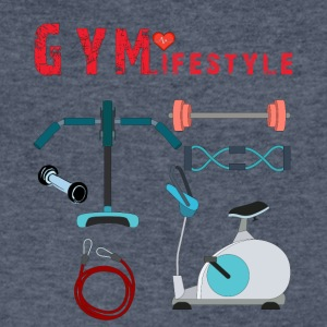 Gym Lifestyle - Men's V-Neck T-Shirt by Canvas