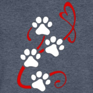 heart and paw - Men's V-Neck T-Shirt by Canvas