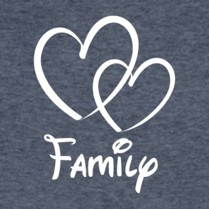 Heart Family - Men's V-Neck T-Shirt by Canvas