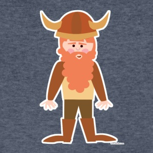 Cute Cartoon Viking - Men's V-Neck T-Shirt by Canvas