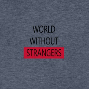 world without strangers - Men's V-Neck T-Shirt by Canvas