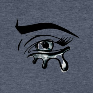 Crying Eye - Men's V-Neck T-Shirt by Canvas