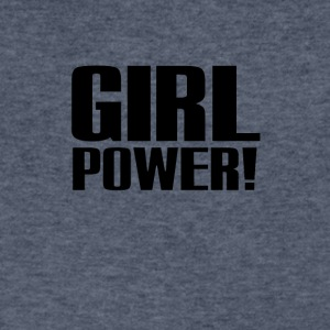 Girl Power Logo Black - Men's V-Neck T-Shirt by Canvas