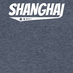 Shanghai Retro Comic Book Style Logo - Men's V-Neck T-Shirt by Canvas