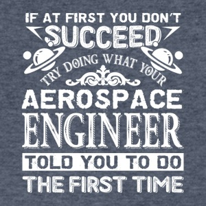 Aerospace Engineer Tee Shirt - Men's V-Neck T-Shirt by Canvas