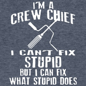 I'm A Crew Chief I Can't Fix Stupid T Shirt - Men's V-Neck T-Shirt by Canvas