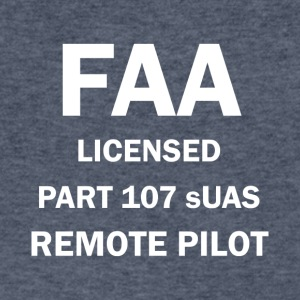 FAA Licensed Part 107 sUAS Remote Pilot Drone Gear - Men's V-Neck T-Shirt by Canvas