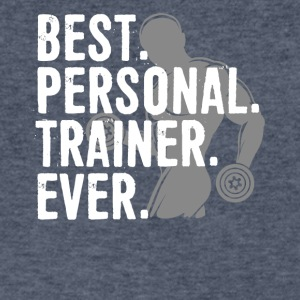 Best Personal Trainer Ever Health Fitness Tshirt - Men's V-Neck T-Shirt by Canvas