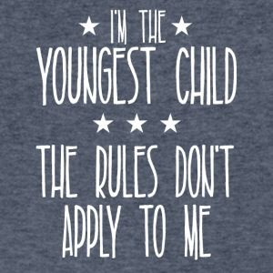 I m the youngest child The rules don't apply to me - Men's V-Neck T-Shirt by Canvas