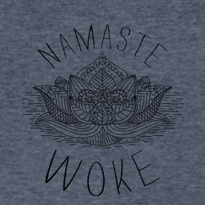 Namaste Woke - Men's V-Neck T-Shirt by Canvas