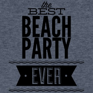 the_best_beach_party_ever - Men's V-Neck T-Shirt by Canvas
