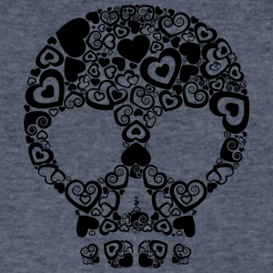 Skull_and_hearts - Men's V-Neck T-Shirt by Canvas