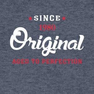 Since 1980 Original Aged To Perfection - Men's V-Neck T-Shirt by Canvas
