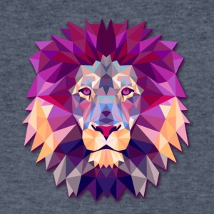 Lion Abstract - Men's V-Neck T-Shirt by Canvas