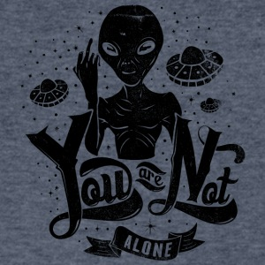 you_are_not_alone_black - Men's V-Neck T-Shirt by Canvas