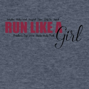 Run Like A Girl Breeders Cup 2016 - Men's V-Neck T-Shirt by Canvas