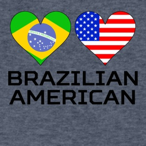Brazilian American Hearts - Men's V-Neck T-Shirt by Canvas