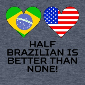 Half Brazilian Is Better Than None - Men's V-Neck T-Shirt by Canvas