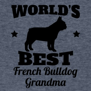 World's Best French Bulldog Grandma - Men's V-Neck T-Shirt by Canvas