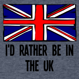 I'd Rather Be In the UK - Men's V-Neck T-Shirt by Canvas