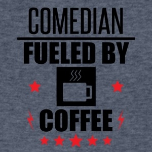 Comedian Fueled By Coffee - Men's V-Neck T-Shirt by Canvas