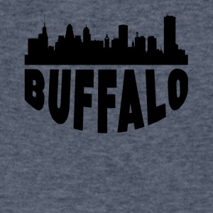Buffalo NY Cityscape Skyline - Men's V-Neck T-Shirt by Canvas