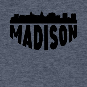 Madison WI Cityscape Skyline - Men's V-Neck T-Shirt by Canvas