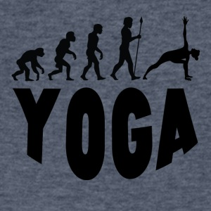 Yoga Evolution - Men's V-Neck T-Shirt by Canvas