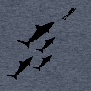 Shark - Men's V-Neck T-Shirt by Canvas