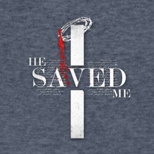 He Saved Me - Men's V-Neck T-Shirt by Canvas