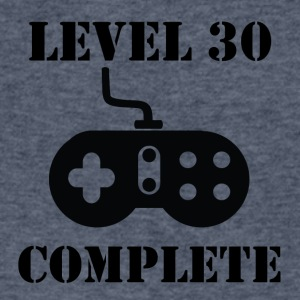 Level 30 Complete 30th Birthday - Men's V-Neck T-Shirt by Canvas