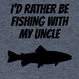I'd Rather Be Fishing With My Uncle - Men's V-Neck T-Shirt by Canvas